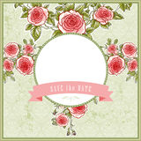 Beautiful vintage background for the wedding with roses Royalty Free Stock Photo