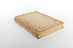 Beautiful vintage book with yellowed paper isolated Stock Image
