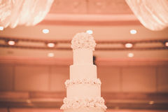 Beautiful vintage Cake decorate for Wedding Ceremony Royalty Free Stock Photo