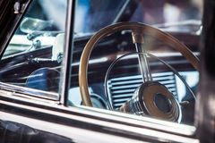 Beautiful vintage car steering wheel Stock Photo