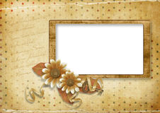 Beautiful vintage card on the background with dots Royalty Free Stock Photography