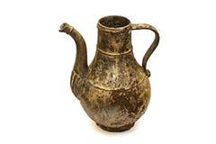 Beautiful vintage cast iron jug on white isolated background stock photo