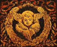 Beautiful vintage christmas angel Stock Image