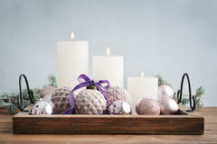 Beautiful  vintage christmas balls Stock Image