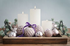 Beautiful  vintage christmas balls Royalty Free Stock Images