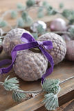 Beautiful  vintage christmas balls Royalty Free Stock Image