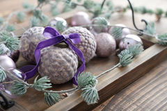 Beautiful  vintage christmas balls Royalty Free Stock Photography