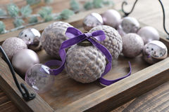 Beautiful  vintage christmas balls Stock Photography