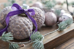Beautiful  vintage christmas balls Royalty Free Stock Photos