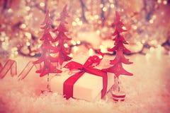 Beautiful vintage Christmas gift Royalty Free Stock Image