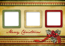 Beautiful vintage Christmas greeting card Stock Photos