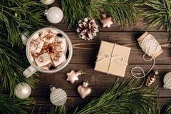 Beautiful vintage Christmassy background Royalty Free Stock Images