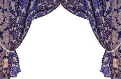 Beautiful vintage curtain isolated on white background Royalty Free Stock Photo