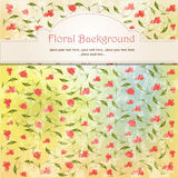 Beautiful vintage  floral background Stock Photo