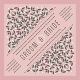 Beautiful vintage floral invitation card. Vector illustration Royalty Free Stock Photos