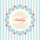 Beautiful vintage floral invitation card. Vector illustration Stock Image
