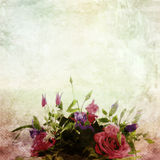 Beautiful vintage flowers. On abstract background stock illustration