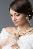Beautiful vintage girl Royalty Free Stock Photography