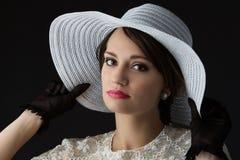 Beautiful vintage girl Stock Photo