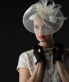Beautiful vintage girl Royalty Free Stock Photo