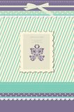 Beautiful vintage greeting card vector Stock Images