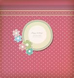 Beautiful vintage greeting card vector Stock Photos
