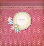 Beautiful vintage greeting card vector Stock Photos