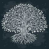 Beautiful vintage hand drawn tree of life Stock Photo