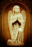 Beautiful vintage image of a praying angel Royalty Free Stock Photo