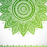 Beautiful vintage Indian floral ornament Stock Images