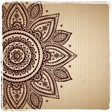 Beautiful vintage Indian floral ornament Stock Photo