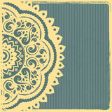 Beautiful Vintage Indian Ornament Template royalty free stock images