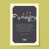 Beautiful vintage invitation cards layout Royalty Free Stock Photo