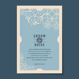 Beautiful vintage invitation cards layout Royalty Free Stock Photography