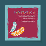 Beautiful vintage invitation cards layout Royalty Free Stock Photos