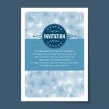 Beautiful vintage invitation cards layout.  Stock Photo
