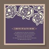 Beautiful vintage invitation cards layout Stock Image