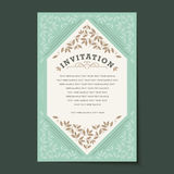 Beautiful vintage invitation cards layout Royalty Free Stock Image