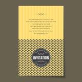 Beautiful vintage invitation cards layout.  Royalty Free Stock Photo