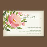 Beautiful vintage invitation cards layout Stock Photo