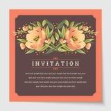 Beautiful vintage invitation cards layout Stock Photo