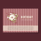 Beautiful vintage invitation cards layout Stock Photography