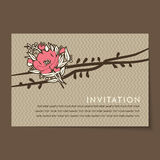 Beautiful vintage invitation cards layout Stock Photos