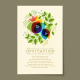 Beautiful vintage invitation cards Layouts Stock Image