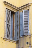 Beautiful vintage italian window with wooden shutters Royalty Free Stock Image