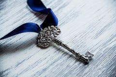 Beautiful vintage keys with ribbon Royalty Free Stock Image