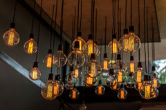Beautiful Vintage Lighting decor for building interiors Stock Photo