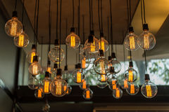 Beautiful Vintage Lighting decor for building interiors Royalty Free Stock Photos