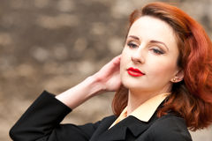 Beautiful Vintage Model Royalty Free Stock Images