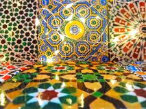 Beautiful Vintage Moroccan Tiles stock images